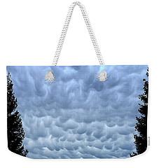Rain Warning Weekender Tote Bag
