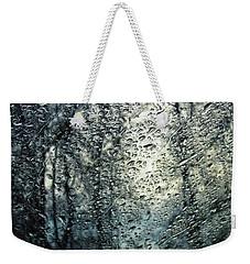 Rain - Water Droplets On The Window Weekender Tote Bag