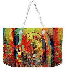 Weekender Tote Bag featuring the digital art Rainbolo - 01t01ii by Variance Collections