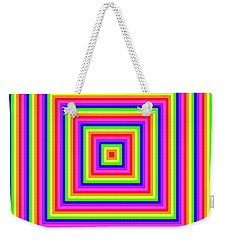 Weekender Tote Bag featuring the digital art Rainbow #1 by Barbara Tristan