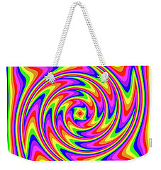 Weekender Tote Bag featuring the digital art Rainbow #2 by Barbara Tristan
