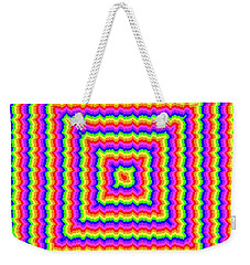 Weekender Tote Bag featuring the digital art Rainbow #3 by Barbara Tristan
