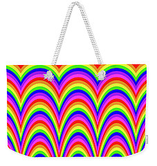 Weekender Tote Bag featuring the digital art Rainbow #4 by Barbara Tristan