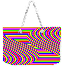 Weekender Tote Bag featuring the digital art Rainbow #5 by Barbara Tristan
