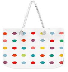Rainbow Abstract Weekender Tote Bag