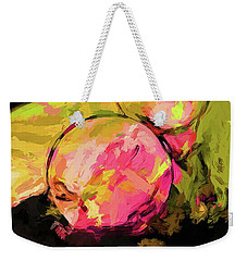 Rainbow Apples Graffiti Green Weekender Tote Bag