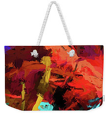 Rainbow Apples Red Graffiti Yellow Weekender Tote Bag