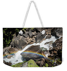 Weekender Tote Bag featuring the photograph Rainbow At Vernal Falls- by JD Mims