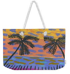 Weekender Tote Bag featuring the painting Rainbow Beach by Artists With Autism Inc