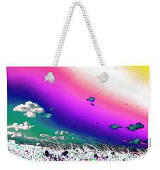 Rainbow Borealis Weekender Tote Bag