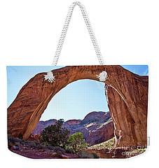 Rainbow Bridge Weekender Tote Bag by Kathy McClure