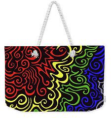 Rainbow Burst Tribal Weekender Tote Bag
