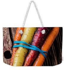 Rainbow Carrots Weekender Tote Bag by Garry Gay