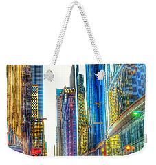 Rainbow Cityscape Weekender Tote Bag