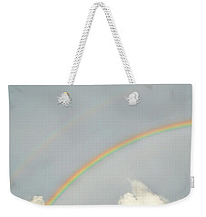 Rainbow Clouds Weekender Tote Bag