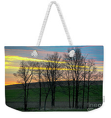 Rainbow Color Tree Horizon Weekender Tote Bag