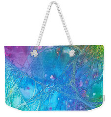 Weekender Tote Bag featuring the painting Rainbow by Artists With Autism Inc
