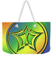 Weekender Tote Bag featuring the digital art Rainbow Design 1 by Chuck Staley