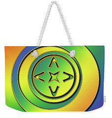 Weekender Tote Bag featuring the digital art Rainbow Design 2 by Chuck Staley