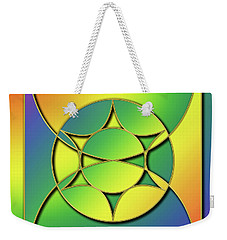 Weekender Tote Bag featuring the digital art Rainbow Design 3 by Chuck Staley