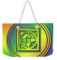 Weekender Tote Bag featuring the digital art Rainbow Design 4 by Chuck Staley