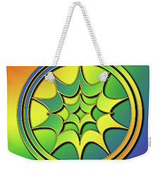 Weekender Tote Bag featuring the digital art Rainbow Design 5 by Chuck Staley