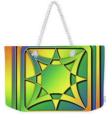 Weekender Tote Bag featuring the digital art Rainbow Design 6 by Chuck Staley
