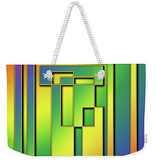 Weekender Tote Bag featuring the digital art Rainbow Design 7 by Chuck Staley