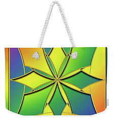 Weekender Tote Bag featuring the digital art Rainbow Design 8 by Chuck Staley