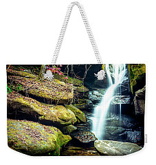 Weekender Tote Bag featuring the photograph Rainbow Falls At Dismals Canyon by David Morefield