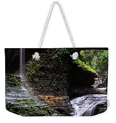 Weekender Tote Bag featuring the photograph Rainbow Falls by Edgars Erglis
