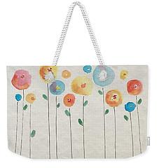 Rainbow Floral Weekender Tote Bag