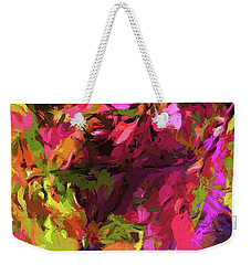 Rainbow Flower Rhapsody Pink Cobalt Blue Weekender Tote Bag