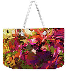 Rainbow Flower Rhapsody Purple Green Weekender Tote Bag