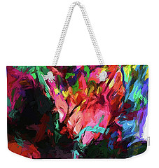 Rainbow Flower Rhapsody Red Turquoise Blue Weekender Tote Bag
