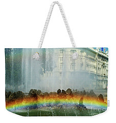 Weekender Tote Bag featuring the photograph Rainbow Fountain In Vienna by Mariola Bitner