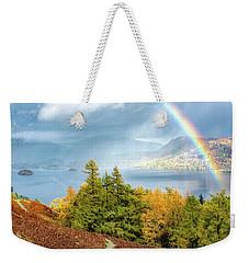 Rainbow Gold Weekender Tote Bag