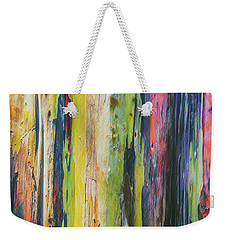 Weekender Tote Bag featuring the photograph Rainbow Grove by Ryan Manuel
