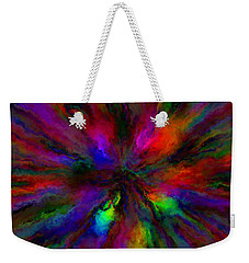 Rainbow Grunge Abstract Weekender Tote Bag
