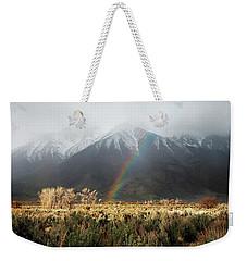 Rainbow In Eastern Sierra Nevadas Weekender Tote Bag