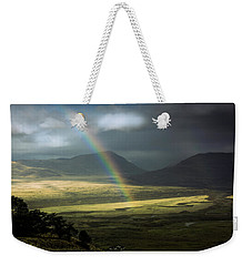 Weekender Tote Bag featuring the photograph Rainbow In The Valley by Andrew Matwijec