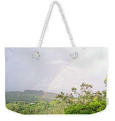 Rainbow In Villalba, Puerto Rico Weekender Tote Bag