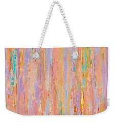 Spring Fusion Weekender Tote Bag by Irene Hurdle