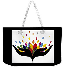 Rainbow Leaves Weekender Tote Bag by Now