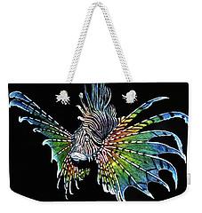 Rainbow Lion Fish Weekender Tote Bag