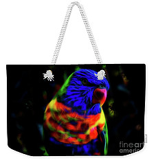 Rainbow Lorikeet - Fractal Weekender Tote Bag