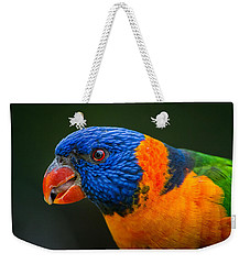Rainbow Lorikeet Weekender Tote Bag