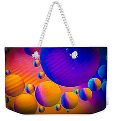 Rainbow Moons Abstract Weekender Tote Bag by Bruce Pritchett