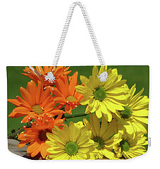 Rainbow Mums 4 Of 5 Weekender Tote Bag by Tina M Wenger