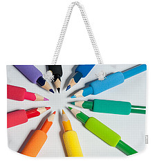 Rainbow Of Crayons Weekender Tote Bag